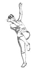 """In this elbow/knee crossing the midline sequence, the mover """"wraps"""" the limbs around the spine, deepening the contralaterality of the crossover while anchoring the movement with the straight leg"""